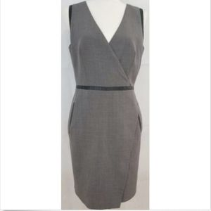 Ann Taylor Women's Dress 8 Sheath Gray Lined Work